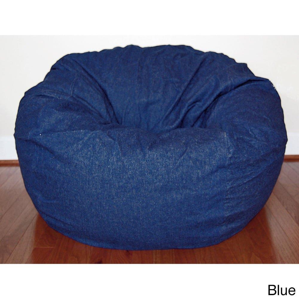 Ahh! Products Blue Denim Washable Large Bean Bag Chair
