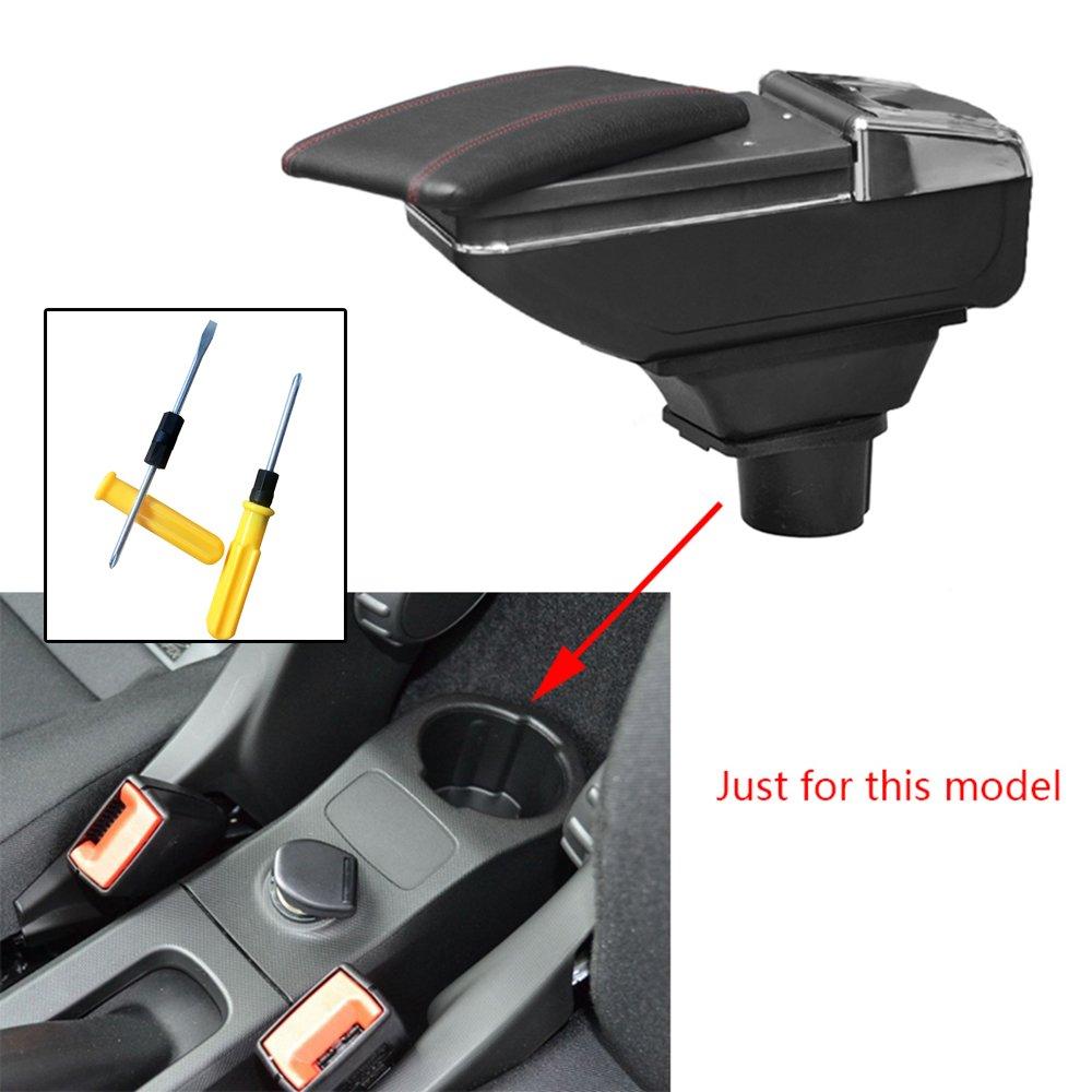 Para Smart Auto Apoyabrazos Consola Central Reposabrazos Accesorios Negro
