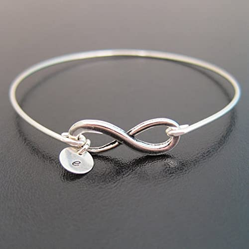 5d60f0b6a Image Unavailable. Image not available for. Color: Infinity Bracelet  Personalized with Initial Charm