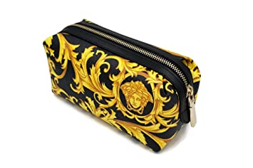 6161bdfff6 Amazon.com   Versace Medusa Logo Cosmetic Case Toiletry Pouch Clutch Bag    Beauty