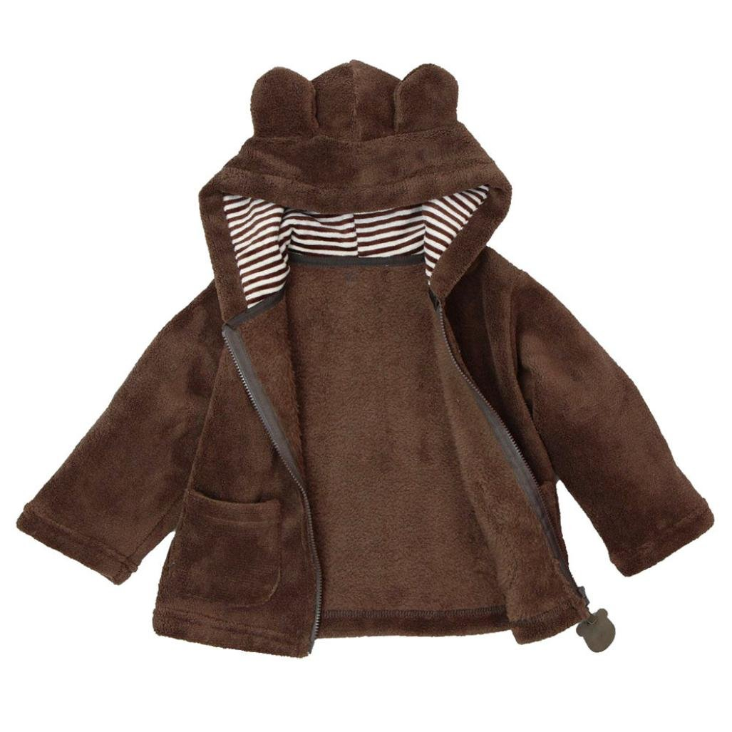 XILALU Baby Boy Girl Lovely Hoodies Coat Thick Winter Warm Outerwear