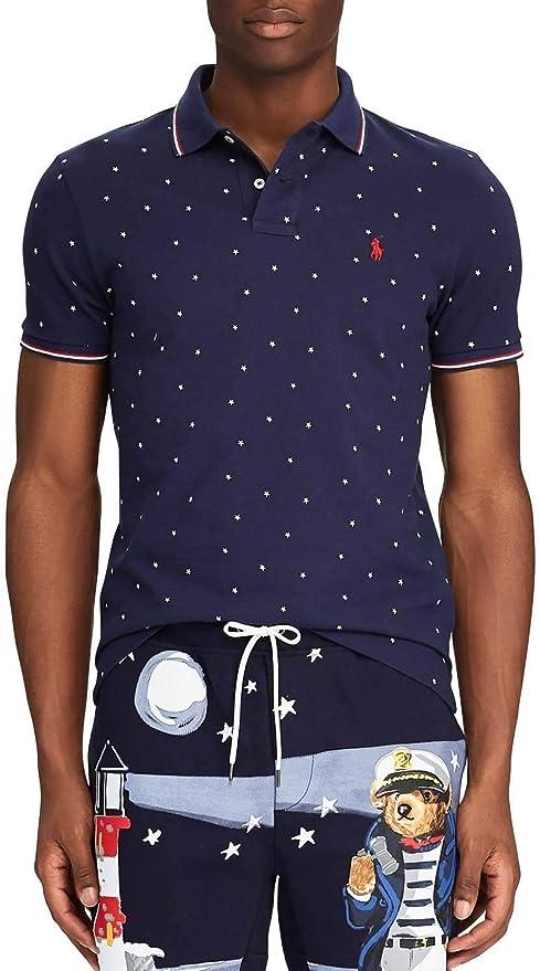 Polo Polo Ralph Lauren Estrellas Marino Hombre XL Marino: Amazon ...