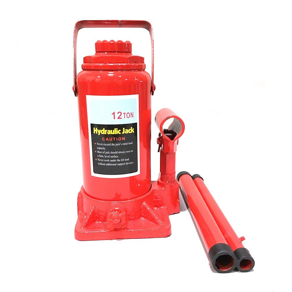 Roadstar Hydraulic Bottle Jack - 12-Ton Capacity Heavy Duty Lift Automotive Tools