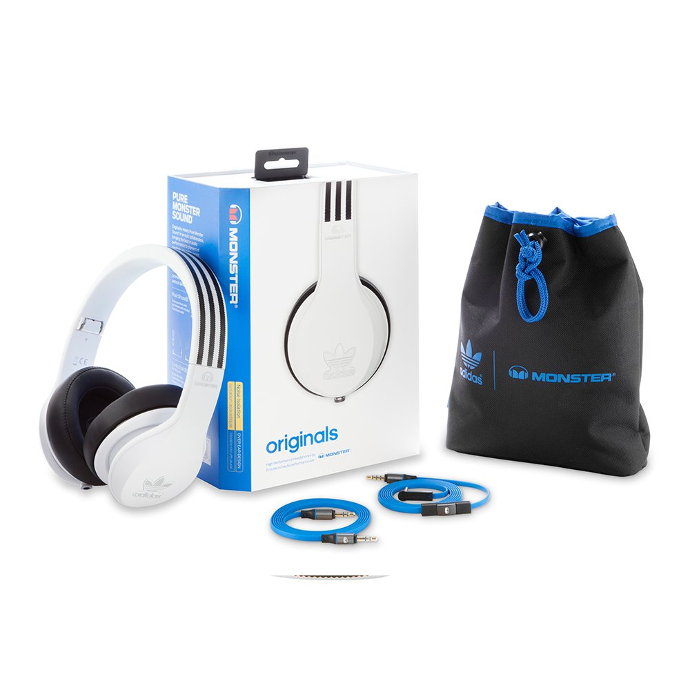 Amazon.com  Monster Adidas Originals Over Ear Headphones-White (128555)   Home Audio   Theater f8c582f1e6