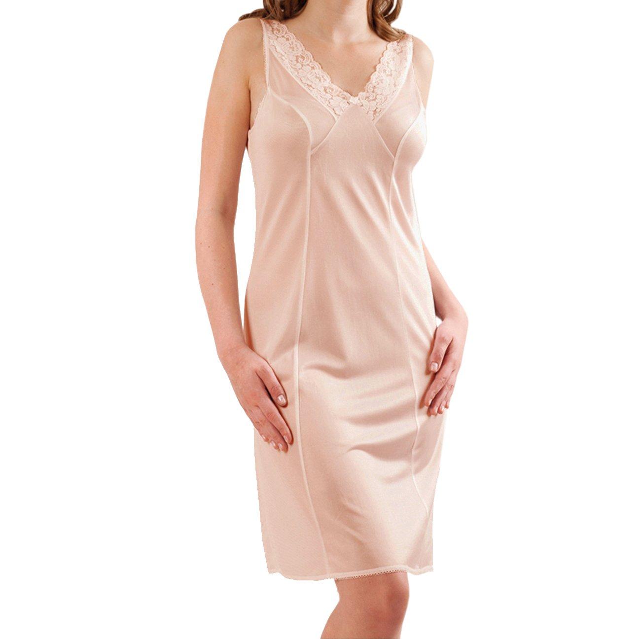 Graziella Damen Unterrock Unterkleid mit Spitze Gr. 40-60 ca. 98 cm Antistatisch Made in Germany 27450592