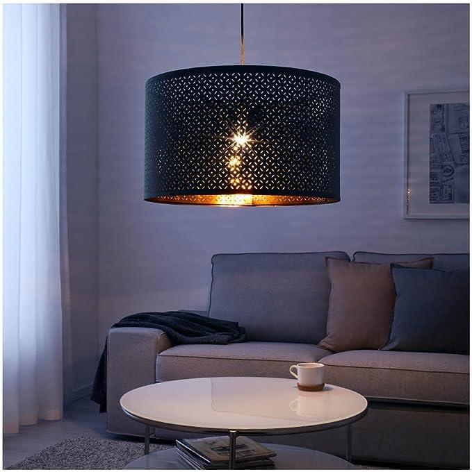 NYMÖ black, brass colour, Lamp shade
