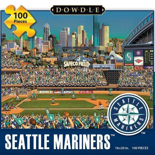 Jigsaw Puzzle - Seattle Mariners 100 Pc By Dowdle Folk Art by Dowdle Folk Art