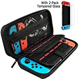 Hestia Goods Nintendo Switch Hard Carry case and Tempered Screen Protector - 20