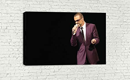 30 X 18 // 75 X 45cm George Michael Singing Wall Art Canvas