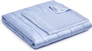 YnM Weighted Blanket with Bamboo Duvet Bundle | 60''x80'' 20lbs, Suit for One Person(~190lb) Use on Queen/King Bed | Purple
