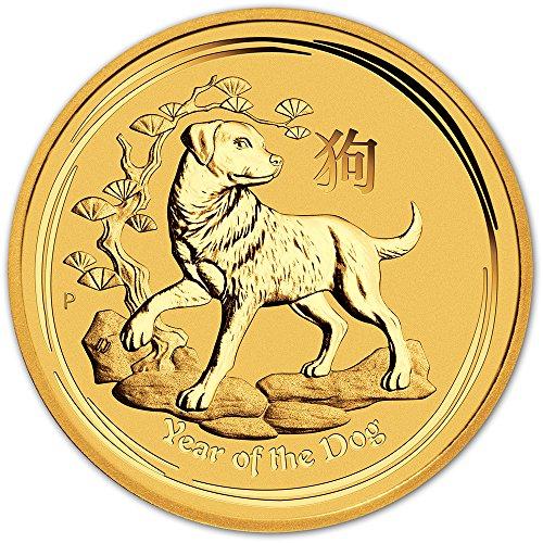 2018 AU Australia Gold Lunar Year of the Dog (1/20 oz) $5 Brilliant Uncirculated Perth - Gold Australia Sales