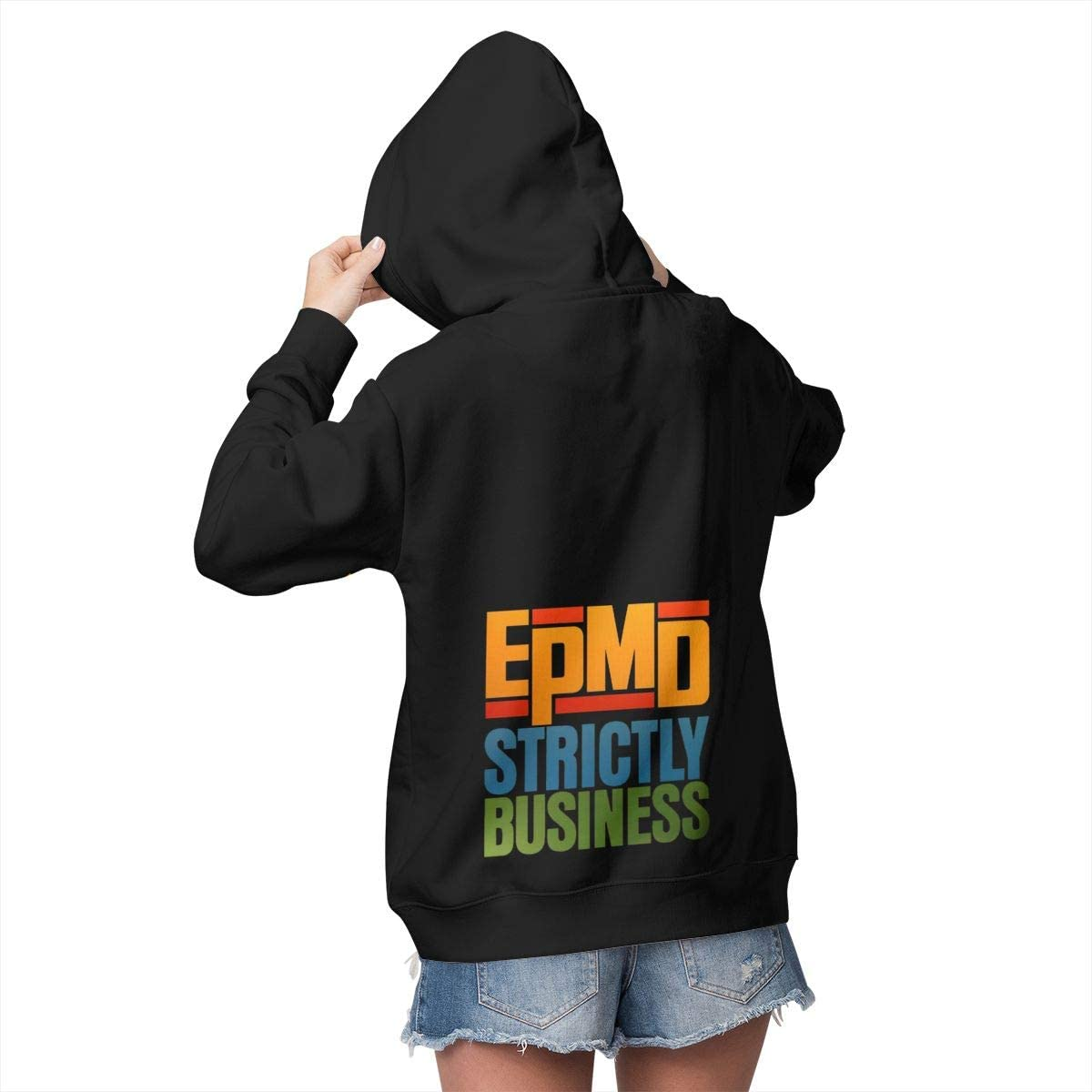 EPMD Strictly Business Womens Winter Jacket Clothes Plus Velvet Pullover Sweatshirt Print Hoodies