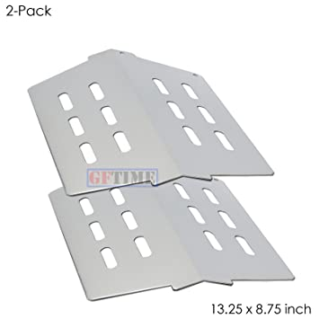 Stainless Steel Grill Heat Shield Plates, Flavorizer Bars Rerplacement  Parts for Weber Genesis 300 Series, Weber 7622 (with Front Mounted Control