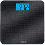 """Homedics® Carbon Fiber Glass Bathroom Scale, Large Platform Measures 13"""" Square, Accurate up to 400 Lbs"""