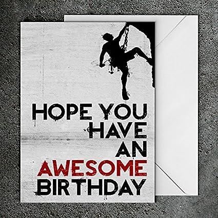 Tarjeta de cumpleaños, tarjeta de cumpleaños de escalada ...