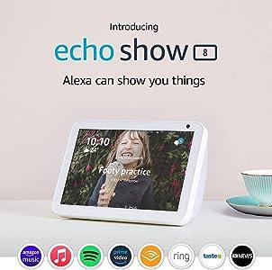 "Echo Show 8 - HD 8"" smart display with Alexa - Sandstone Fabric"