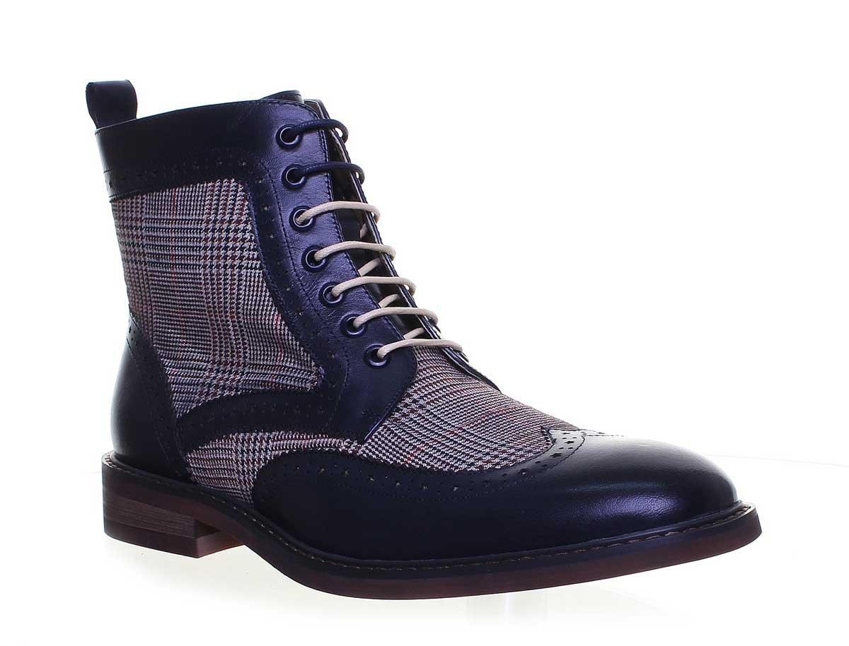 Justin Reece Ricardo 2pour homme moine en daim Chaussures en cuir formelle Taille - Bleu - Navy 116 YiGsy,