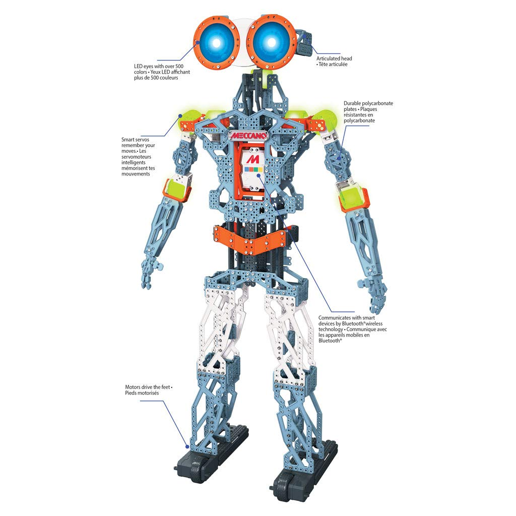 Meccano MeccaNoid G15KS 1243 Piece Robot Building Kit with Carrying Case by Meccano (Image #3)
