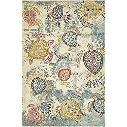 A2Z Rug California Collection Beige 4' x 6'-Feet Modern Area Rugs