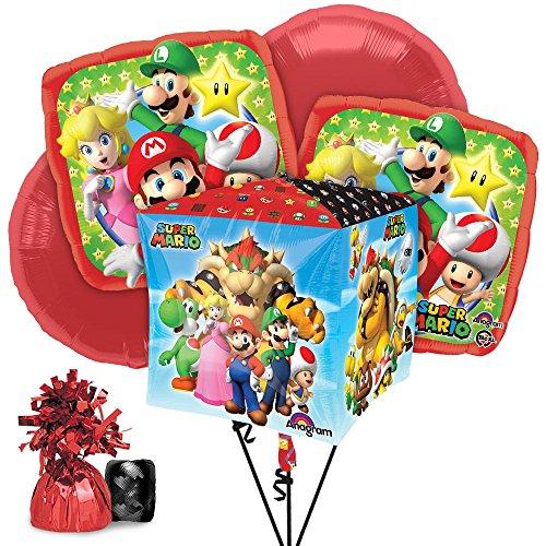 Costume Supercenter BBBK186 Mario Balloon Bouquet Kit