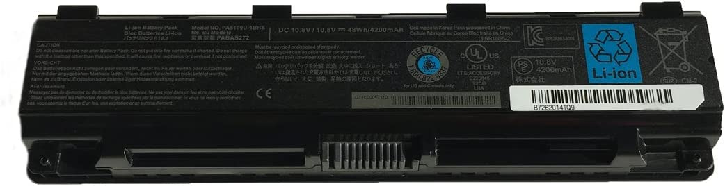 Battery Pack PA5109U-1BRS PABAS272 Replacement for Toshiba Satellite C50 C55 L70 S70 Series Laptop Notebook Battery 10.8V 4200mAh