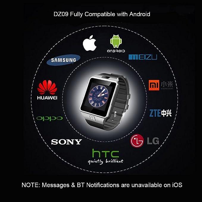 SinoPro DZ09 Smart Watch Bluetooth Wrist Watch Phone with Camera SIM