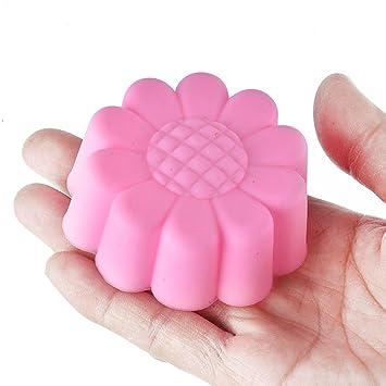 Unmengii - Molde de silicona para tartas, diseño de flor de sol, 5 moldes