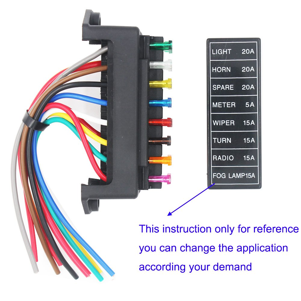 Artgear 2 Input 8 Output Car Standard Blade Fuse Holder Amazonco 12 Way Marine Non Illuminated Switch Circuit Breaker Panel Electronics