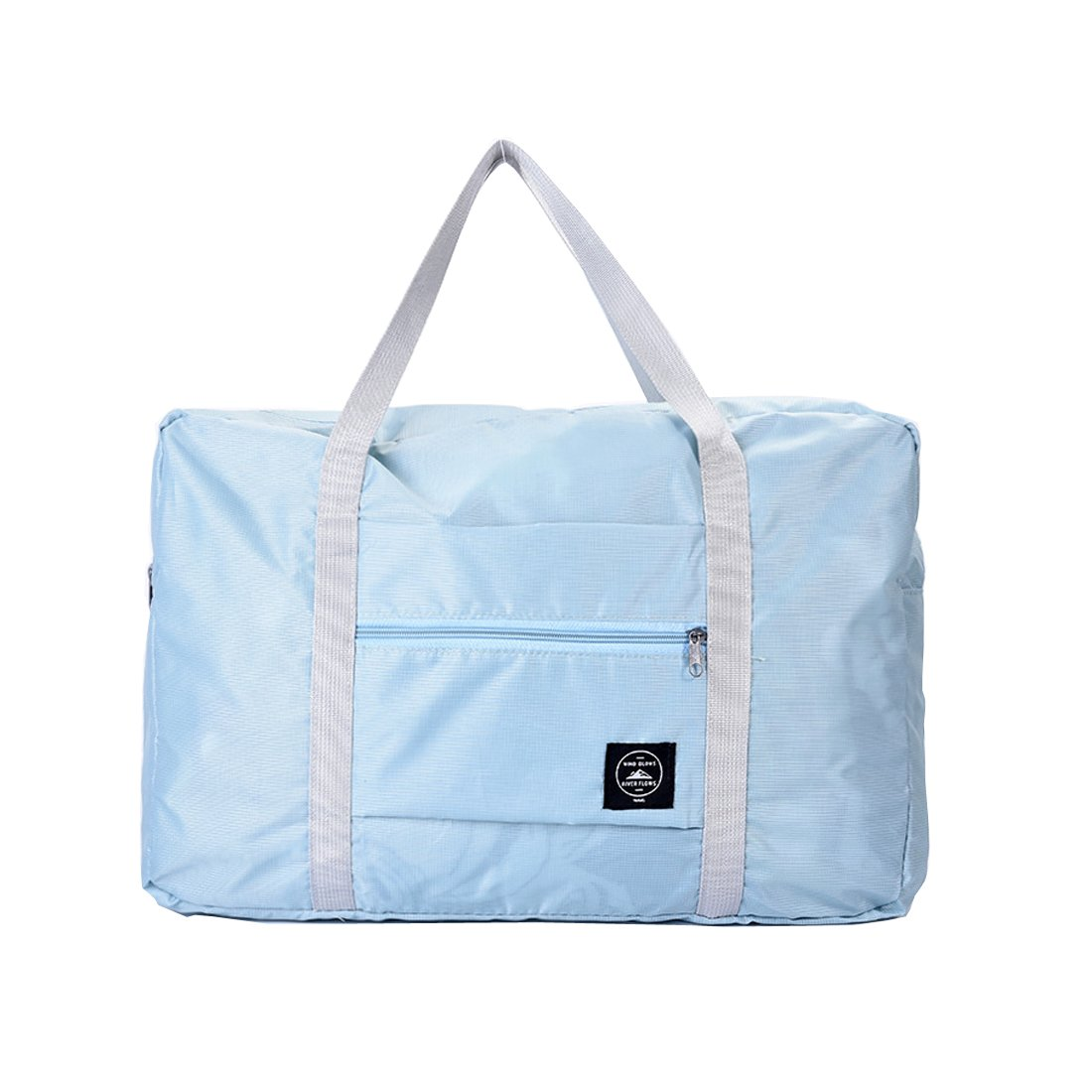 Travel Luggage Bag Reusable Folding Large Capacity Easy Packing Carry Storage Tote Bag (Blue)