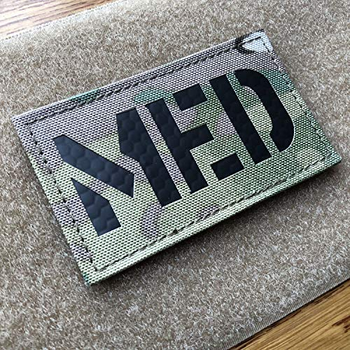 3.5x2 inch Multicam Ir Infrared MED Medic EMS EMT Patch with Hook and Loop