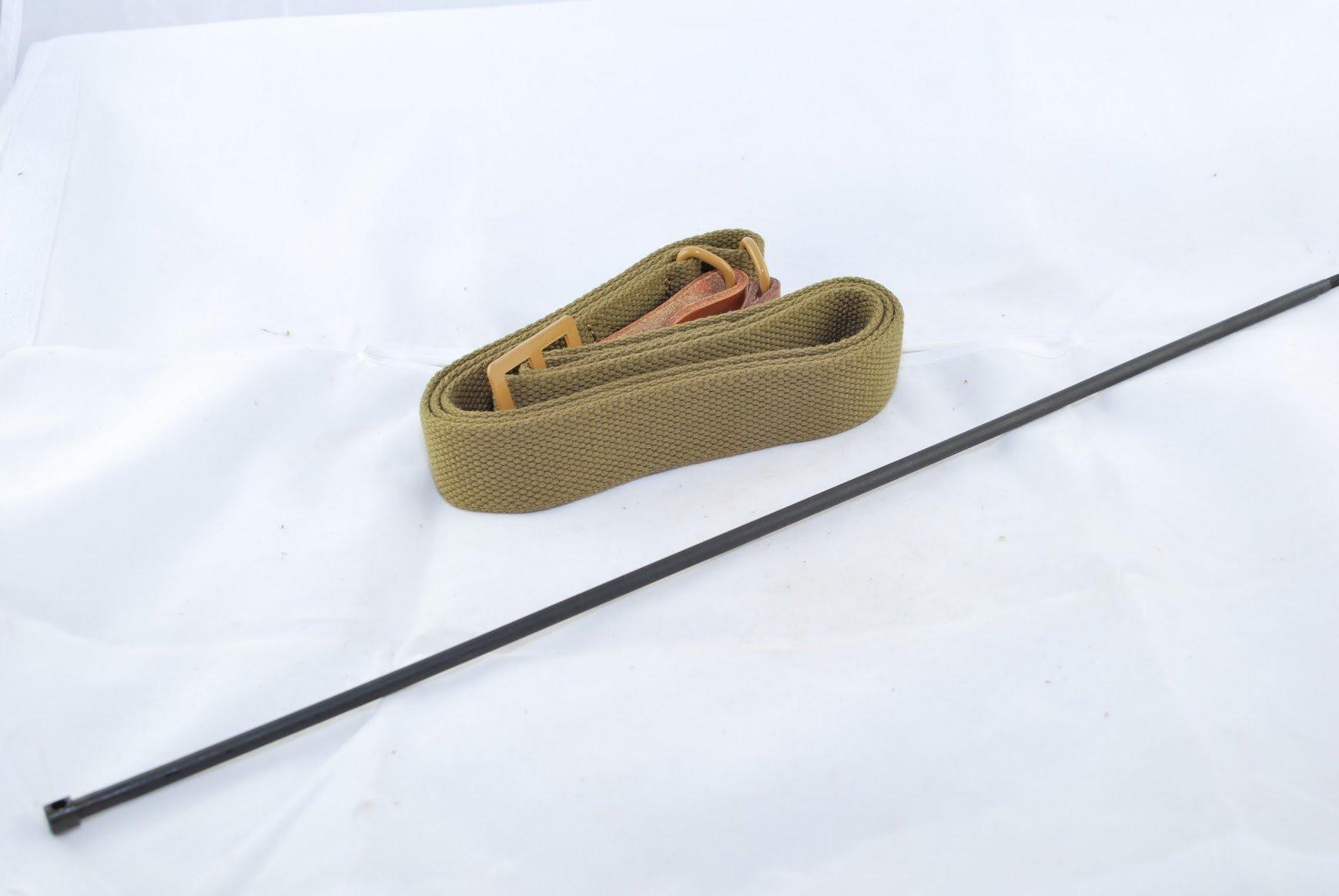 Tacbro - Ak/sks Sling (Heavy Duty), Medium, Tan and Ak Cleaning Rod By Tacbro