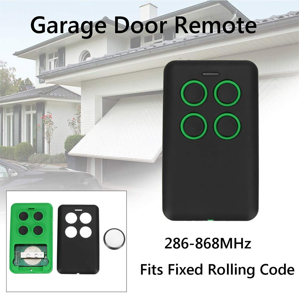 4-Button 286-868MHz Fits Fixed Rolling Code Garage Door Multi Remote Soft