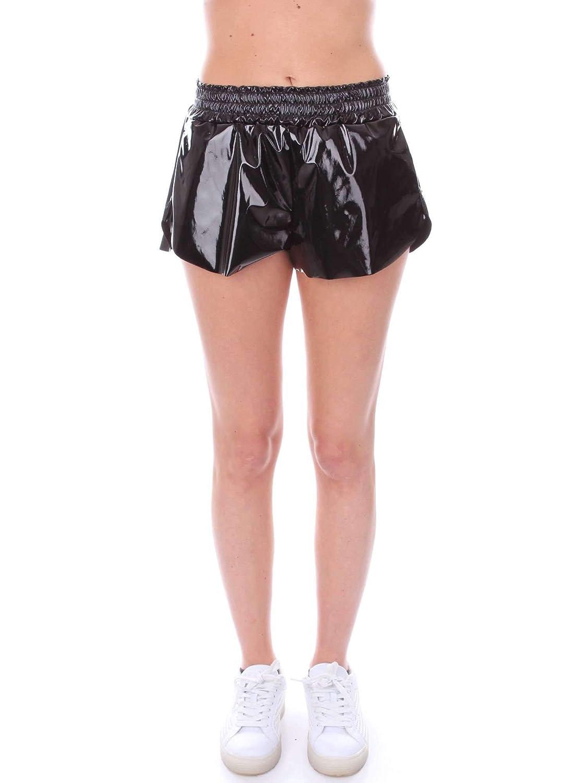 Numero00 Women's 2345BLACK Black Patent Leather Shorts