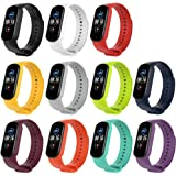 KOMI Replacement Bands, Silicone Bracelet Wristband Adjustable Sport Fitness Strap Compatible for Xiaomi Mi Band 5(11pcs…