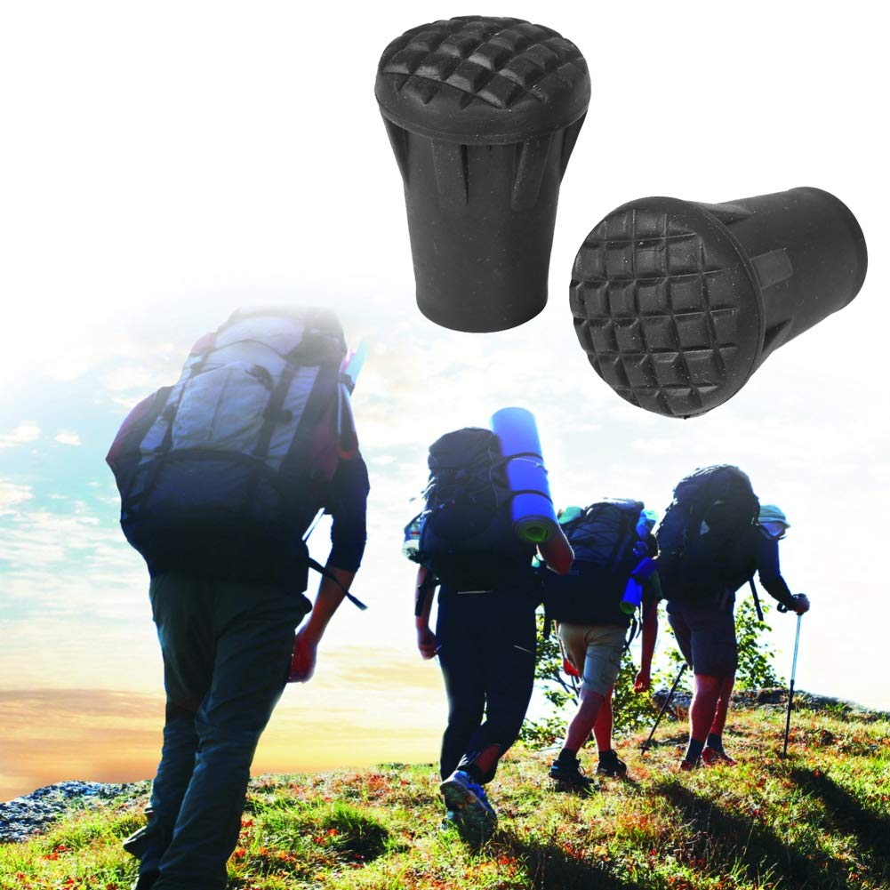 Hiking Stick Hat Hiking Pole Replacement Part Accessories for Outdoor Trekking Hiking Pole Tip End Walking Stick Cap Cover