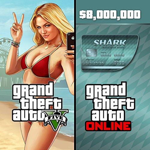 Grand Theft Auto V & Megalodon Shark Card Bundle - PS3 [Digital Code] by Rockstar