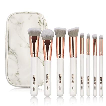 Amazon.com: Juego de 8 brochas de maquillaje de lujo de ...