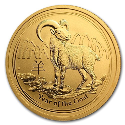 - 2015 P Perth Mint Australia 1/2 oz Gold Lunar Year of the Goat $50 Seller Brilliant Uncirculated