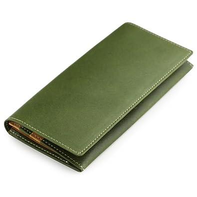 5da96a27bf04 Amazon | 日本製 栃木レザー 牛革 長財布 グリーン | メンズバッグ・財布