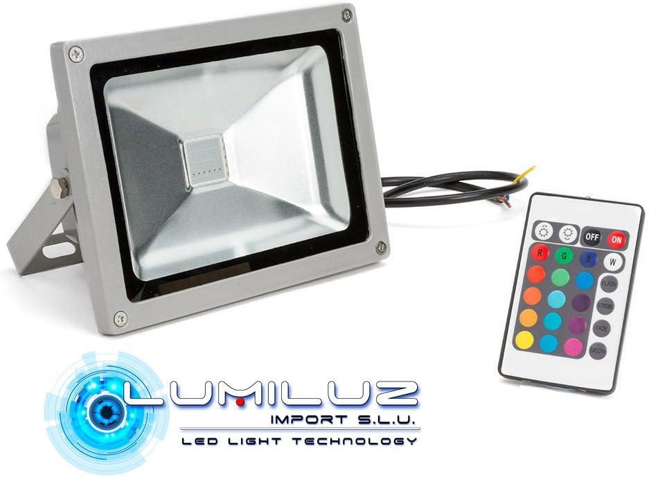 Proyector Led 50W RGB 4500 Lúmenes con efecto memoria de color ...