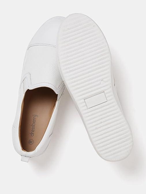 Buy DressBerry Women White Solid Slip