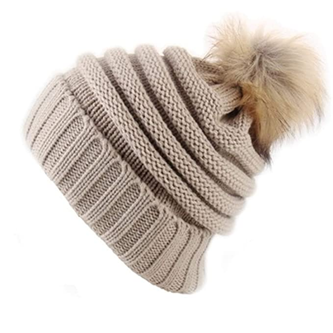 e0527f59127 2019 Korean Women Winter Warm hat with Elastic Quality Cotton Big Ball  Thickened Wool hat Outdoor