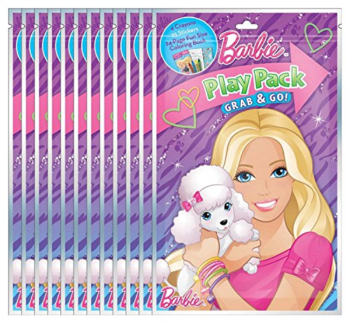 Barbie Grab and Go Play Packs (Pack of 12)