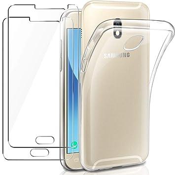 AROYI Funda Samsung Galaxy J5 2017 Carcasa + [2-Pack ...