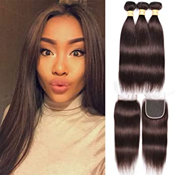 Hair Extensions & Wigs 3/4 Bundles With Closure 2019 Latest Design March Queen Brazilian Hair Straight 3 Bundles With Closure #27 Honey Blonde Color Hair Human Hair Weave With 4*4 Lace Closure Ideal Gift For All Occasions