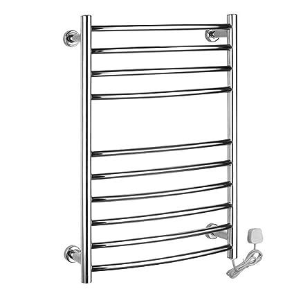 Montado en la pared de acero inoxidable eléctrico toallero / radiador Baño / Calentador de toallas