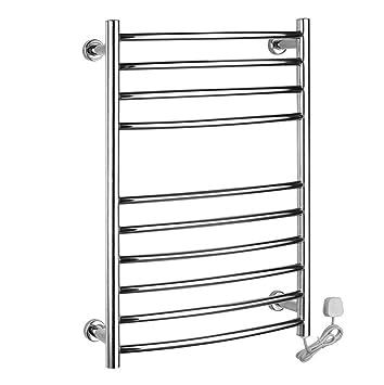 Montado en la pared de acero inoxidable eléctrico toallero / radiador Baño / Calentador de toallas 9003: Amazon.es: Hogar