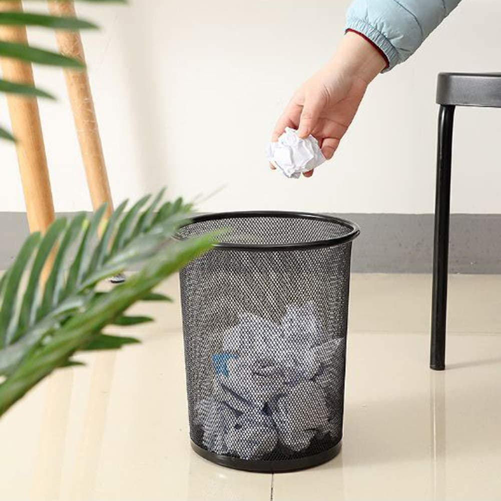 Earchy Mini Trash Can Desktop Cover Small Trash Can Wastebaskets Bedroom Living Room Office Trash Can
