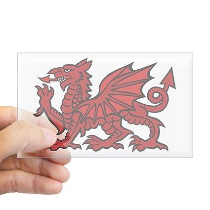 c4b5280f50 Amazon.com: CafePress Red Welsh Dragon Rectangle Sticker Rectangle ...