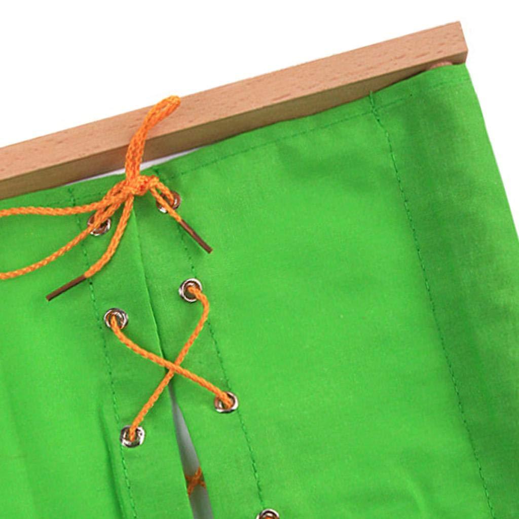 Boucle de Chaussures en Cuir Rouge perfeclan Jouets dEveil Jouet Educatif Outil P/édagogique pour Jardin denfants Cadre de V/êtement V/êtements /à Gros Boutons